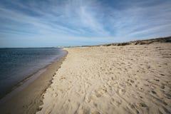 特拉华湾的海岸,在刘易斯,特拉华 库存照片
