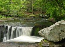 特拉华空白宾夕法尼亚水瀑布 免版税库存照片