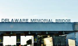 特拉华美国纪念桥梁标志 免版税库存照片