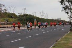 特拉唯夫吉勒特马拉松。 2012年3月30日。 免版税图库摄影