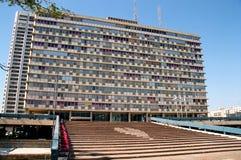 特拉唯夫市政厅 免版税库存照片