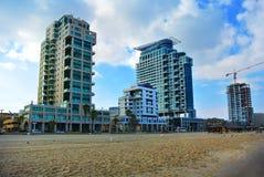 特拉唯夫街道  地中海的海岸 以色列 免版税库存图片