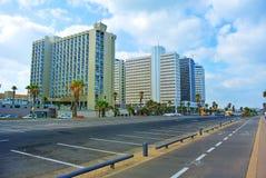 特拉唯夫街道  地中海的海岸 以色列 库存照片