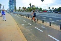 特拉唯夫街道  地中海的海岸 以色列 免版税库存照片