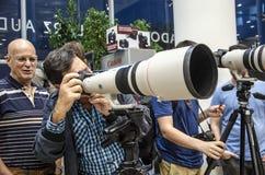 特拉唯夫,以色列- 10月31 -会议photog 库存图片