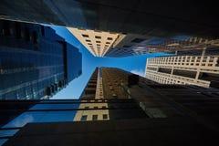 特拉唯夫- 2016年12月9日, :高楼在特拉维夫市cen中 库存图片