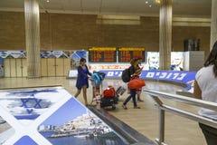 特拉唯夫- airoport - 7月21日-以色列, 2014年 免版税图库摄影