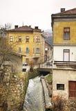 特拉夫尼克 达成协议波斯尼亚夹子色的greyed黑塞哥维那包括专业的区区映射路径替补被遮蔽的状态周围的领土对都市植被 库存照片