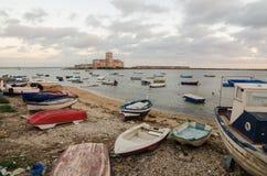 特拉帕尼,西西里岛海岛,意大利 图库摄影