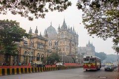 贾特拉帕蒂・希瓦吉终点站在孟买,印度 免版税库存照片