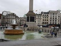 特拉法加广场伦敦街道视图 库存照片