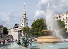 特拉法加广场伦敦 库存照片
