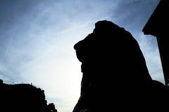 特拉法加广场雕象 免版税库存照片
