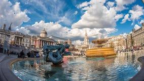 特拉法加广场,伦敦看法  免版税库存图片