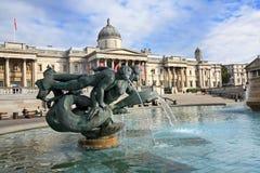 特拉法加广场,夏令时,伦敦 库存照片