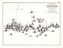 特拉法加海战下午, 10月 21日1805 图库摄影