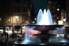 特拉法加软夜的喷泉 免版税库存照片