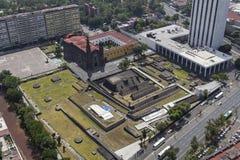 特拉特洛尔科墨西哥城鸟瞰图  图库摄影