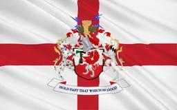 特拉福德市,英国都市自治市旗子  免版税库存图片