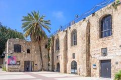 特拉维夫,以色列- 2017年4月:上古贾法角博物馆博物馆,位于的老Saraya议院的考古学博物馆 免版税库存图片