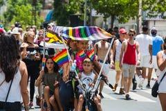特拉维夫,以色列2018年6月8日:同性恋自豪日游行在特拉维夫,以色列 免版税库存图片