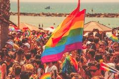 特拉维夫,以色列2018年6月8日:同性恋自豪日游行在特拉维夫,以色列 库存图片