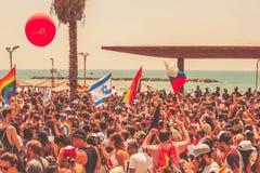 特拉维夫,以色列2018年6月8日:同性恋自豪日游行在特拉维夫,以色列 免版税库存照片