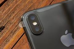 特拉维夫,以色列- 2017年11月23日:Iphone x巧妙的电话 最新苹果计算机Iphone 10手机 库存照片