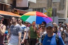 特拉维夫ISRAEL-JUNE 09,2017 :同性恋游行在特拉维夫 免版税库存照片