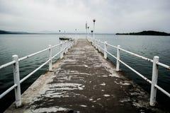 特拉西梅诺湖的船坞 库存图片