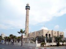 特拉维夫哈桑土侯清真寺尖塔2011年 库存图片
