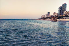 特拉维夫海滩 免版税图库摄影