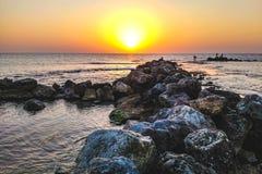特拉维夫海滩 免版税库存照片