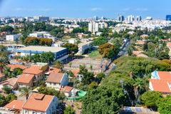 特拉维夫郊区概略的看法  免版税库存图片