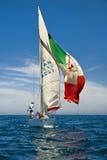 特拉维夫,以色列- 2010年5月15日:奥菲克乘快艇杯竞争 免版税库存图片