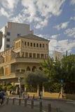 特拉维夫,以色列2016年2月09日:老被更新的大厦 库存照片