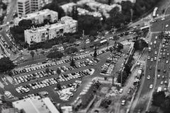 特拉维夫- 10 06 2017年:在特拉维夫路和propert的鸟瞰图 免版税库存图片