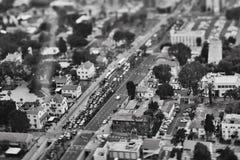 特拉维夫- 10 06 2017年:在特拉维夫路和propert的鸟瞰图 库存照片
