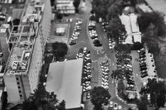 特拉维夫- 10 06 2017年:在特拉维夫路和propert的鸟瞰图 免版税库存照片