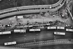 特拉维夫- 10 06 2017年:在特拉维夫路和propert的鸟瞰图 库存图片