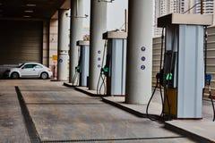 特拉维夫- 10 06 2017年:空的加油站在特拉维夫,天时间 免版税库存图片