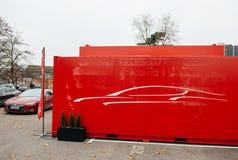 特斯拉模型S电车零放射 库存照片