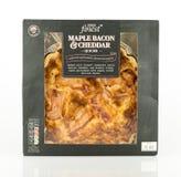 特易购最美好的槭树烟肉和切达乳酪乳蛋饼 库存照片