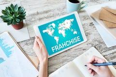特权业务模式和营销策略概念 免版税库存图片