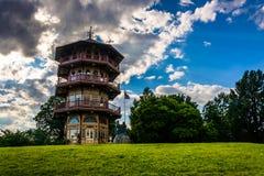 特森公园的塔在巴尔的摩,马里兰 免版税图库摄影