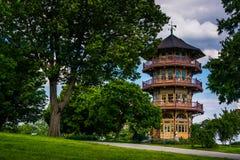 特森公园的塔在巴尔的摩,马里兰 免版税库存图片