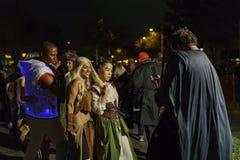 特殊事件的时刻-西部好莱坞万圣夜Carnaval 库存照片