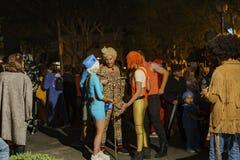 特殊事件的时刻-西部好莱坞万圣夜Carnaval 免版税图库摄影