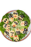 特殊事件的时刻的欢乐板材用deviled鸡蛋 免版税库存图片