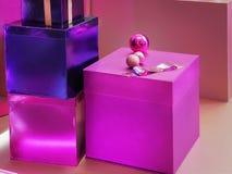 特殊场合的特写镜头五颜六色的礼物盒 免版税库存照片